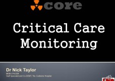 Core Critical Care Monitoring